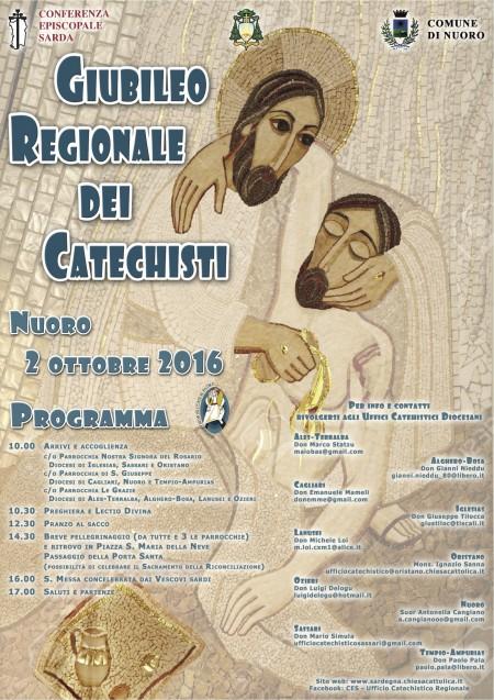 Locandina Giubileo Regionale Catechisti - 4 ottobre 2016 - Nuoro